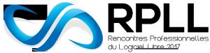 Logo des Rencontres Professionnelles du Logiciel Libre (RPLL) 2017 Rectangulaire